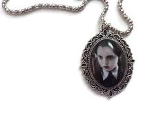Wednesday Addams, Vintage Fashion, Vintage Style, Rope Chain, Fashion Necklace, Charity, Unique Gifts, Handmade Items, Pendant Necklace