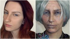 OLD AGE MAKEUP TUTORIAL TRANSFORMATION Without Prosthetics