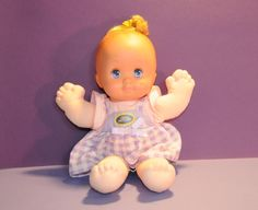"""Magic Nursery Doll. Is it a boy or a girl? Just put the nightie in water and say, """"love is magic""""  (that was the commercial..lol)"""