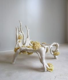 3ders.org - 3D printed 'Mycelium Chair' made from water, straw and fungus | 3D Printer News & 3D Printing News