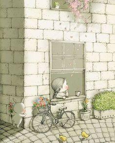 "bellasecretgarden: ""(via Pin by Erin Russek on Illustration Art And Illustration, Pencil Art Drawings, Cute Drawings, Cute Images, Manga Comics, Wallpaper, Cute Art, Art For Kids, Fantasy Art"