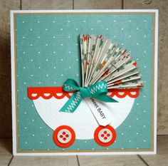 Love Joanne's adorable little card. :)  Scrapping Outside The Lines: Little Red Wagon #212