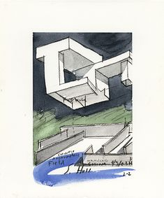 Nanjing Museum Watercolors by Steven Holl