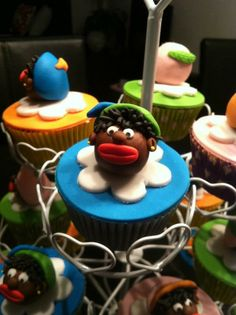 Cupcake met zwarte pietjes! #cupcake #sinterklaas #zwartepiet #5december #feest