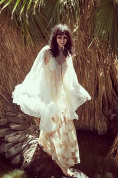 Channel your inner boho babe with romantic, free flowing maxi dresses and a carefree attitude!