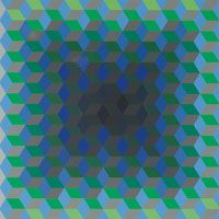 """Victor Vasarely (French/Hungarian, 1906-1997) """"Abstract Composition,"""" c. 1970, lithograph"""