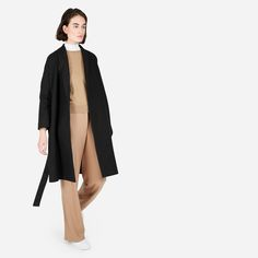 Women's Belted Wool Shawl Coat   Everlane