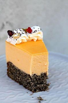 Kremasta mak limun torta – Sweetlifebykarla Torte Recepti, Orange Cookies, Chocolate Desserts, Bakery, Cheesecake, Good Food, Recipes, Life, Cheesecakes