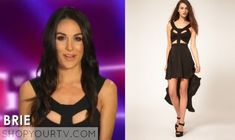Brie-Bella-cut-out reverse dress with cut out harness top from Asos total divas Fashion Tv, Fashion Outfits, Wwe Total Divas, Brie Bella, Blue Sneakers, Converse Chuck Taylor All Star, Season 3, Bellisima, Tv Shows