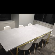 Great decisions are made around this table - Concrete Boardroom Table from Mags Concrete Works