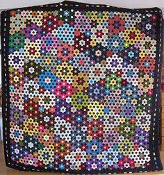 sengetæppe m hexagoner
