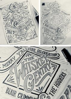 The Whiskey Gentry - Concert Poster 2 on Behance