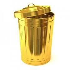 Garbage 24 carat pure Gold-plated more sizes available for purchase, price from$10,000
