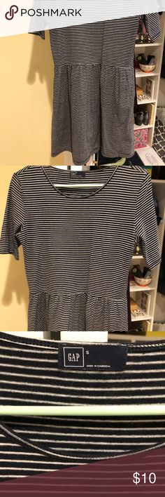 0c7c060d708 Navy and white striped dress Navy and white striped dress GAP Dresses Mini
