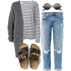 Untitled #486 by pocahontees on Polyvore featuring polyvore, fashion, style, T By Alexander Wang, Acne Studios, rag & bone and Birkenstock