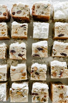 stollen bars l my name is yeh Low Carb Dinner Recipes, Appetizer Recipes, Dessert Recipes, Desserts, Dessert Bars, Baking Recipes, Molly Yeh, Biscuits, 16 Bars