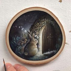 What lay beyond this hidden door That these moth so desperately seek? Perhaps I shall inch a bit closer To only take a peek ✨ Acrylic on… Tiny Gifts, Hunny Bunny, Bunny Art, Something New, Painting Lessons, New Print, Paint Party, Animal Paintings, Beautiful Artwork