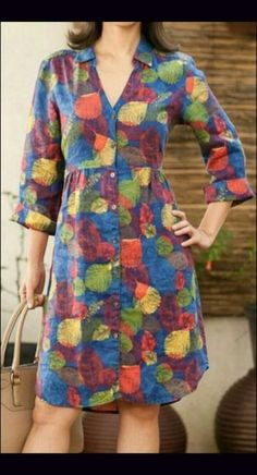 Ideas sewing dress simple tunics for 2020 Simple Dresses, Casual Dresses, Fashion Dresses, Kurta Designs, Blouse Designs, Linen Dresses, Cotton Dresses, Sewing Dress, Super Moda