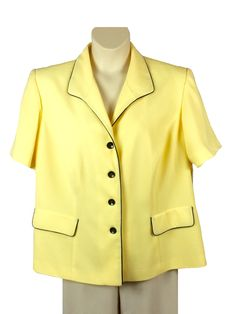 b6aa1b1da2a Womens Danny and Nicole Yellow Jacket Plus Size 20W Short Sleeve Button  Down NWT  DannyNicole