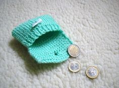 Small Crocheted Wallet  Green by LuluLyna on Etsy, $6.20