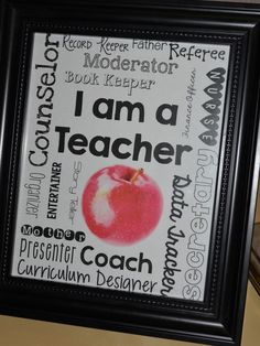 Education to the core: i am a teacher! free printable for home or work! great for teacher appreciation week! Classroom Quotes, Classroom Posters, Classroom Fun, Classroom Organization, Teacher Posters, Classroom Projects, Spanish Classroom, Classroom Design, Teaching Quotes