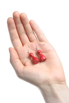 Items similar to Red Chess Pawn Figure Dangle Earrings on Etsy Vintage Earrings, Dangle Earrings, Jewelery, Dangles, Red, Etsy, Color, Products, Jewelry