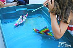Duck Tape® Boat Races - Mess for Less Rain Gutter Regatta, Sunday School Crafts For Kids, Starting Kindergarten, Duck Tape Crafts, Wallet Tutorial, Field Day, Back To School Shopping, Teen Birthday, Delaware