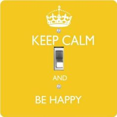 """Rikki KnightTM Keep Calm Be Happy - Yellow Color - Single Toggle Light Switch Cover by Rikki Knight. $13.99. The Keep Calm Be Happy - Yellow Color single toggle light switch cover is made of commercial vibrant quality masonite Hardboard that is cut into 5"""" Square with 1'8"""" thick material. The Beautiful Art Photo Reproduction is printed directly into the switch plate and not decoupaged which make these Light Switch Plates suitable for use in any room in the office, home, etc. etc...."""