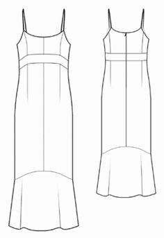 I think the ruffle on bottom can be extended to make a train. Dress Sketches, Fashion Sketches, Clothes Crafts, Sewing Clothes, Dress Sewing Patterns, Clothing Patterns, Clothing Store Displays, Make Your Own Clothes, Pattern Fashion