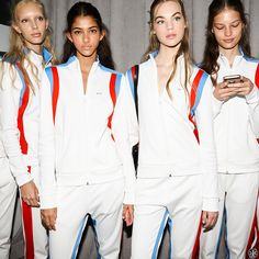Spotted backstage: Tory Sport's elevated take on off-duty style