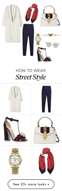 """""""#gucci women #street style"""" by maral-usefi on Polyvore featuring Roksanda, Gucci, MANGO and Rolex"""