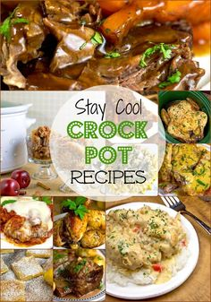 Stay cool this summer! Try these 20 recipes for your crock pot slow cooker. Perfect Appliance For Summer
