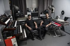 The Milanese production duo invite us into their analog-heavy lair.