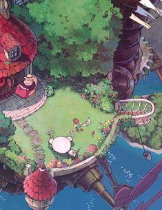 Art Studio Ghibli, Studio Ghibli Movies, Aesthetic Art, Aesthetic Anime, Personajes Studio Ghibli, Studio Ghibli Background, Japon Illustration, 8bit Art, Image Manga