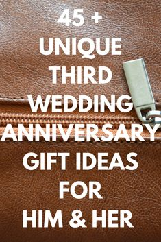 Wedding Gift Ideas Find the best third wedding anniversary gifts ideas for your husband or wife today. Plus fun and unique leather anniversary presents your spouse will love. (Includes leather anniversary gifts for just him or her. Anniversary Ideas For Her, Three Year Anniversary Gift, 3 Year Wedding Anniversary, Leather Anniversary Gift, Anniversary Games, Best Anniversary Gifts, Second Anniversary, Husband Anniversary, Leather Gifts For Her