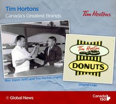 Tim Hortons is a Great Canadian Brand in our books. Canada 150, Tim Hortons, Global News, All About Time, Roots
