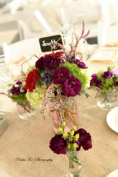 Table Number & Table Flowers