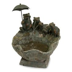 IMAX Slate Pond and Spitting Frogs Fountain - 36136. IMAX Slate Pond and Spitting Frogs Fountain - 36136 Theres more than a touch of whimsy in this cute Spitting Frog Fountain sized for tabletop and for smiles. Accented with an umbrella, the Slate Pond and Frogs Fountain!.. . See More Outdoor Fountains at http://www.ourgreatshop.com/Outdoor-Fountains-C747.aspx