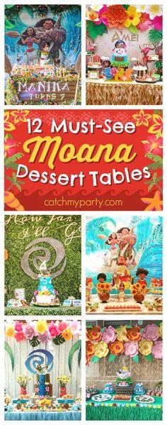 12 Must-See Moana Dessert Tables Moana Birthday Outfit, Moana Birthday Party, 3rd Birthday Parties, 2nd Birthday, Birthday Ideas, Birthday Recipes, Princess Birthday, Moana Disney, Hawaiian Luau Party