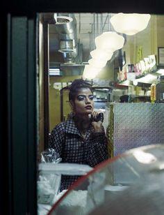 Publication: Vogue Italia April 2016 Model: Bhumika Arora Photographer: Emma Summerton Fashion Editor: Elin Svahn Hair: Holli Smith Make-up: Dick Page