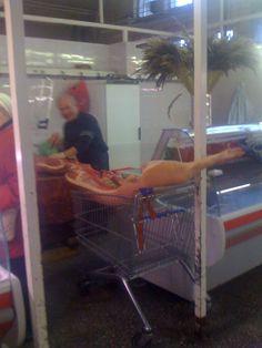 butcher at Riga market halls