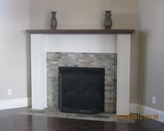 Like this pale slate and simple white surround.