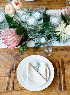 Cut protea on the table...STEMS – Austin Florist | Austin Wedding Florist…