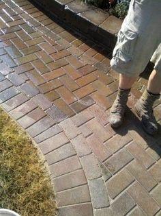 Drain Installed Along Patio Edge Running Water 50 Feet To Swale In  Backyard. | Www.paverprotector.com #paverprotector | Brick Paver Patios |  Pinterest | 50, ...