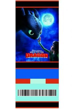How to train your Dragon movie ticket invitation