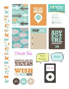 Whole Page August 2014 free sentiment downloads for paper crafting and card making | journaling cards, scrapbooking, handmade cards