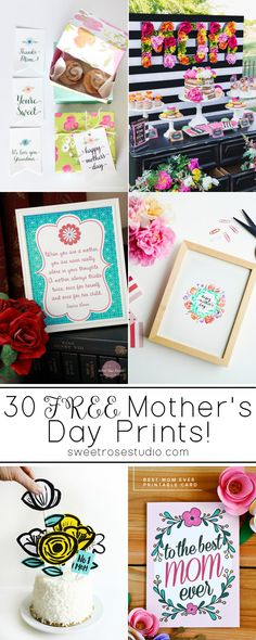 30 Free Mothers Day Prints at Sweet Rose Studio