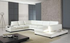 2013 European laest design Large Size U Shaped with LED light, coffee table white luxury sofa sets LC9110-in Living Room Sofas from Furniture on Aliexpress.com