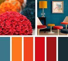 34 Ideas Home Design Interior Ideas Color Schemes Color Schemes Colour Palettes, Red Colour Palette, House Color Schemes, House Colors, Coral Color Schemes, Interior Design Color Schemes, Deco Design, Room Colors, Colorful Interiors