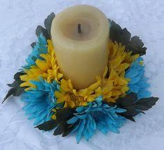 Mira este artículo en mi tienda de Etsy: https://www.etsy.com/listing/244938250/candle-ring-6-with-gerbera-daisy-for
